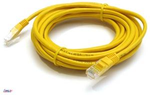 Patch Cord UTP кат.5е 5м, желтый