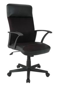 Ch-818AXSN/Black Кресло (черный пластик, черная иск. кожа)