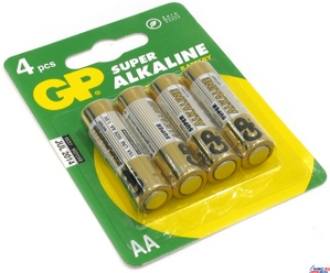 GP Ultra/Super 15AU/15A-4 (LR6) Size AA, щелочной (alkaline) уп. 4 шт.