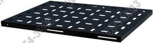 Полка выдвижная с направляющими НТ СТВ580 В, черная, L=580мм., перфорированная