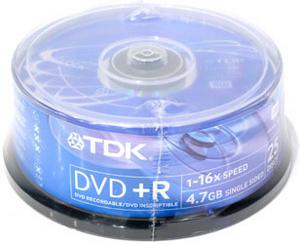 TDK DVD + R Disc TDK 4.7Gb 16x уп. 25 шт. на шпинделе