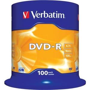 Verbatim DVD-R Disc Verbatim 4.7Gb 16x уп. 100 шт. на шпинделе 43549