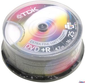 TDK DVD + R Disc TDK 4.7Gb 16x уп. 25 шт. на шпинделе, printable