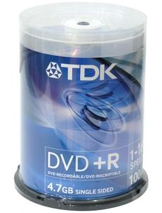 TDK DVD + R Disc TDK 4.7Gb 16x уп. 100 шт. на шпинделе