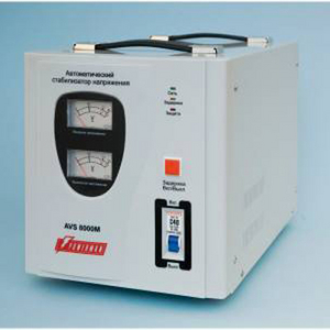 PowerMan Стабилизатор Powerman AVS 8000M (вх.140-260 В, вых.220 В ± 8%, 8000ВА, клеммы для подключения)