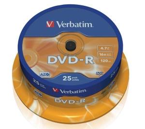 Verbatim DVD-R Disc Verbatim 4.7Gb 16x уп. 25 шт. на шпинделе 43522