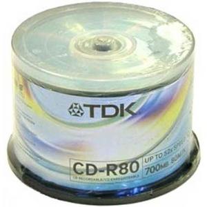 TDK CD-R TDK 700Mb 52x sp. уп.50 шт. на шпинделе