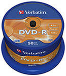 Verbatim DVD-R Disc Verbatim 4.7Gb 16x уп. 50 шт. на шпинделе 43548