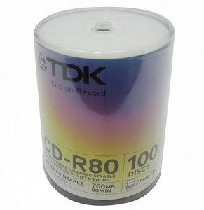 TDK CD-R TDK 700Mb 52x sp. уп.100 шт. на шпинделе, printable