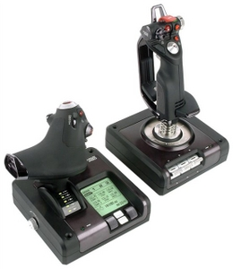 Saitek Джойстик Saitek PS34 X52 Pro Flight Control System (9кн., 2x 8 поз.перекл., throttle, USB)