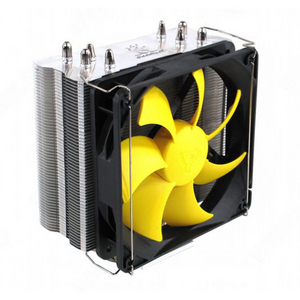 GlacialTech Igloo H46 PWM Cooler (4пин, 775/1155/1366/AM2/AM3/FM1, 31дБ, 800-1600об/мин, Al + тепл.труб)