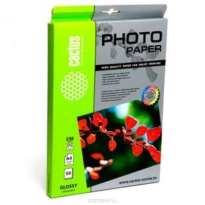 Cactus CS-GA618050 (10x15см, 50 листов, 180 г/м2) бумага глянцевая