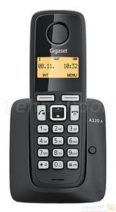 Siemens Р/телефон+А/Отв Gigaset A220A Grey (трубка с ЖК диспл., База)стандарт-DECT, РО, ГТ
