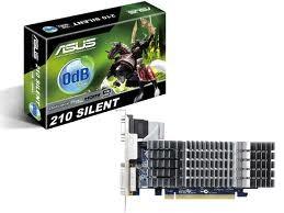Asus 1Gb PCI-E DDR-3 ASUS EN210 SILENT/DI/1GD3/V2/LP (RTL) D-Sub+DVI+HDMI GeForce 210