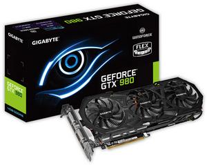 Gigabyte 4Gb PCI-E DDR-5 Gigabyte GV-N980WF3OC-4GD (RTL) DualDVI+HDMI+3xDP+SLI GeForce GTX980