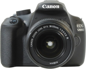 "Canon EOS 1200D Black EF-S 18-55 III KIT (18.0Mpx,29-88mm,3x,F3.5-5.6,JPG/RAW,SDXC,3.0"",USB2.0/AV,HDMI,Li-Ion)"
