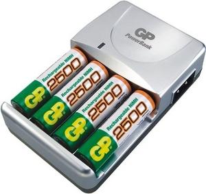 GP Зарядное устройство GP GPPB420GS130-2CR4 PowerBank (NiMh, AA/AAA) +4шт аккум.