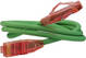 Patch Cord UTP кат.5е 0.3м Hyperline PC-LPM-UTP-RJ45-RJ45-C5e-0.3M-LSZH-GN Патч-корд