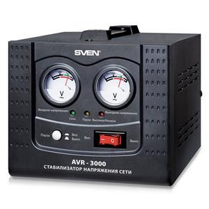 Sven Стабилизатор Sven AVR-1000 (7 A, вх.100-280 В, вых.220 В±8% В, 700Вт, 1 розетка Euro)