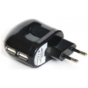 Сетевой адаптер USB KS-is Toss KS-056B (Вх. AC220V, Вых. DC5.0V, 2x1000mA, USB)
