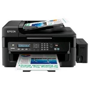 Epson L555 (A4, струйное МФУ, факс, LCD, 33 стр/мин, 5760 optimized dpi, 4 краски, USB2.0, ADF, WiFi)