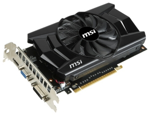 MSI 2Gb PCI-E DDR-5 MSI V809 N750Ti-2GD5/OCV1 (RTL) D-Sub+DVI+HDMI GeForce GTX750Ti