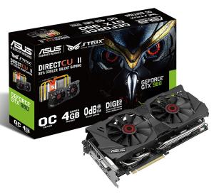 Asus 4Gb PCI-E DDR-5 ASUS STRIX-GTX980-DC2OC-4GD5 (RTL) DVI+HDMI+3xDP+SLI GeForce GTX980