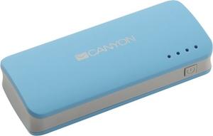 Canyon Внешний аккумулятор CANYON CNE-CPB44BL Blue (USB 1A, 4400mAh, фонарь, Li-Ion)