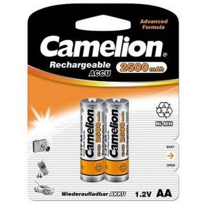 """Аккумулятор Camelion NH-AA2500AR-2 AlwaysReady (1.2V, 2500mAh) NiMH, Size """"AA"""" уп. 2 шт"""