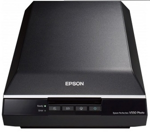 Epson Perfection V550 Photo (CCD, A4 Color, 6400dpi, USB2.0, Film adapter)