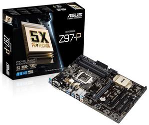 Asus Z97-P (RTL) LGA1150 Z97 2xPCI-E Dsub+DVI+HDMI GbLAN SATA RAID ATX 4DDR-III