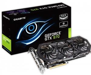 Gigabyte 4Gb PCI-E DDR-5 Gigabyte GV-N970WF3OC-4GD (RTL) DualDVI+HDMI+3xDP+SLI GeForce GTX970