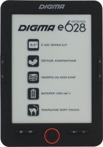 """Digma e628 Black (6"""",mono,800x600,4Gb,FB2/PDF/DJVU/RTF/CHM/EPUB/JPG/BMP, microSDHC,USB2.0)"""