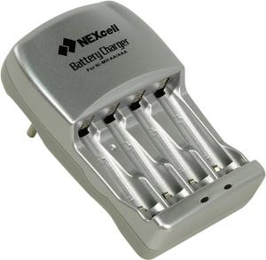 Nexcell Зарядное уст-во Nexcell SC-320(B)-2AA-2AAA (NiMh, AA/AAA) +AAAx2шт+AAx2шт аккум.