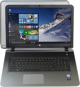 """Hewlett-Packard HP Pavilion 17-g104ur P0G96EA#ACB i3 6100U/4/500/DVD-RW/R7M360/WiFi/BT/Win10/17.3""""/2.66 кг"""