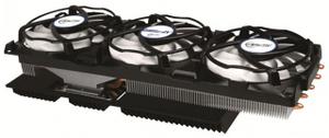 Arctic Cooling Accelero Xtreme IV VGA Cooler (4пин, 900-2000об/мин, 24.4дБ, Cu+Al+тепл.трубки)