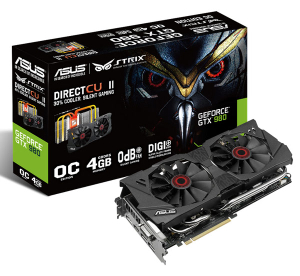 Asus 4Gb PCI-E DDR-5 ASUS STRIX-GTX970-DC2OC-4GD5 (RTL) DualDVI+HDMI+DP+SLI GeForce GTX970