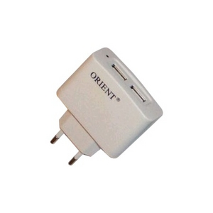 Orient PU-2402 Зарядное устройство USB (Вх. AC110-240V, Вых.5V, 2xUSB 2.1A)