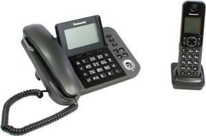 Panasonic KX-TGF310RUM Black проводной телефон+р/телефон (трубка с ЖК диспл.,DECT)