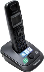 Panasonic KX-TG2521RUT Gray р/телефон (трубка с ЖК диспл., DECT, А/Отв)