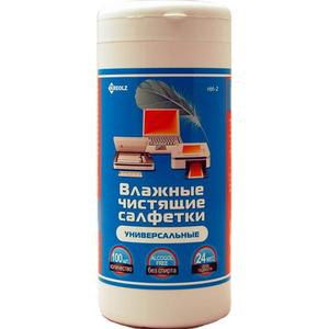 Kreolz NBT-2 Влажные чистящие салфетки в пластиковой тубе (100шт.)