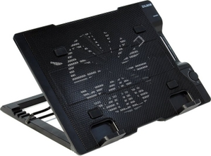 Zalman ZM-NS2000-Black Notebook Cooling Stand (20дБ,470-610об/мин,USB питание,Al)