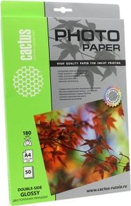 Cactus CS-GA418050DS (A4, 50 листов, 180 г/м2) бумага глянцевая двусторонняя