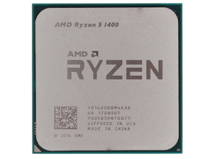 CPU AMD Ryzen 5 1400 BOX (YD1400B) 3.2 GHz / 4core / 2+8Mb / 65W Socket AM4