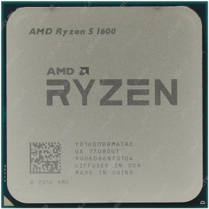 CPU AMD Ryzen 5 1600 BOX (YD1600B) 3.2 GHz / 6core / 3+16Mb / 65W Socket AM4