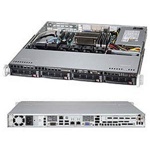 Supermicro 1U 5018D-MTF (LGA1150, C224, PCI-E, SVGA, SATA RAID,4xHS SAS/SATA, 2xGbLAN, 4DDRIII 350W)
