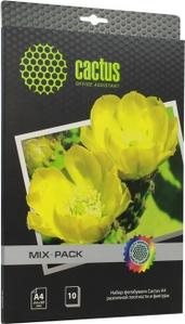 Cactus CS-Mixpack (A4, 10 листов) Набор бумаги различной плотности и фактуры