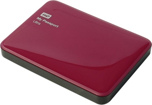 "Western Digital WD WDBDDE0010BBY-EEUE My Passport Ultra USB3.0 Drive 1Tb Red 2.5"" EXT (RTL)"