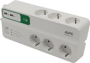 APC Сетевой фильтр APC PM6U-RS 2м 6 розеток, 2xUSB