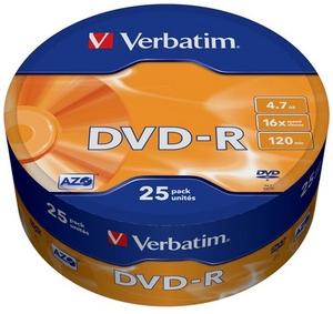 Verbatim DVD-R Disc Verbatim 4.7Gb 16x уп. 25 шт 43730
